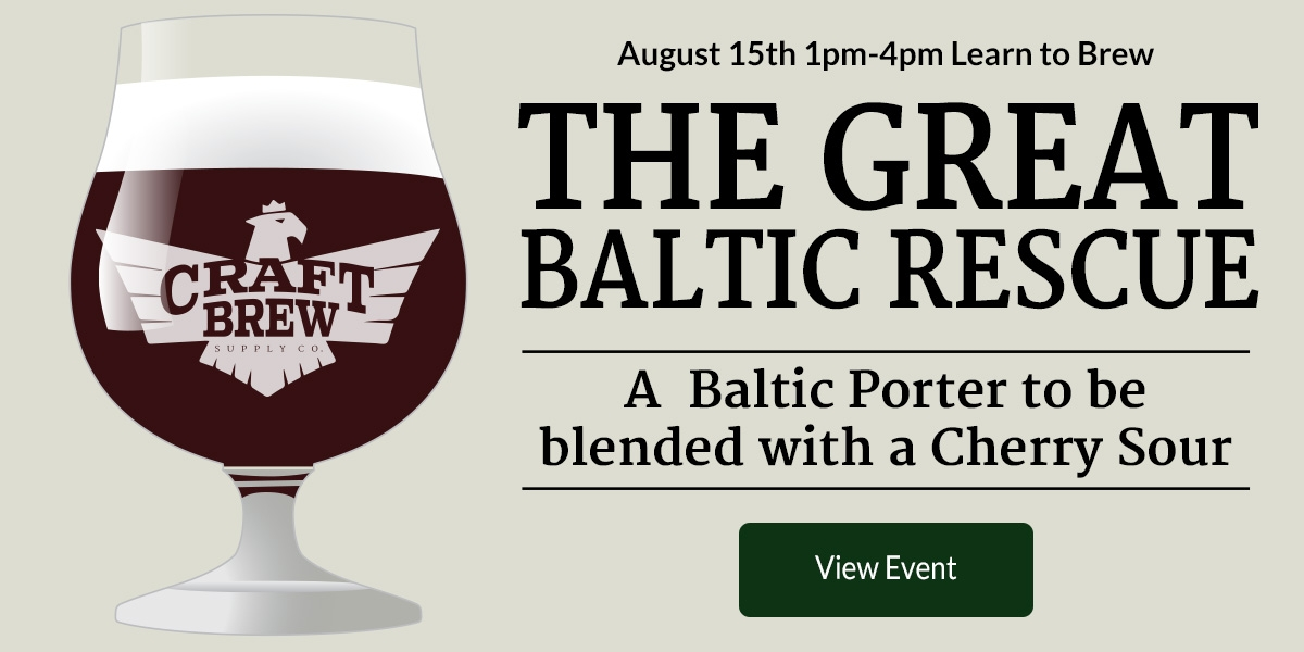 August Brew Demo Baltic Porter Homebrew
