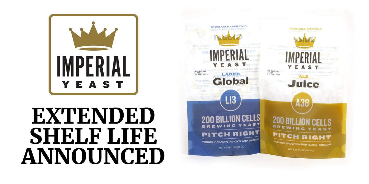 Imperial Yeast for Brewing - New Longer Shelf Life